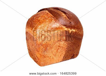Marble bread isolated over clear white background