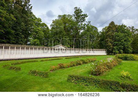 Summer Houses Of Rehabilitation Center In Krimulda Manor, Sigulda Latvia.