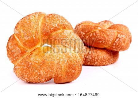 Sweet buns isolated over clear white background
