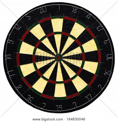 Classic Darts Board With Twenty Black White Sector