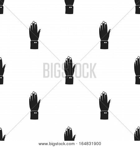 High five icon in black style isolated on white background. Patriot day pattern vector illustration.