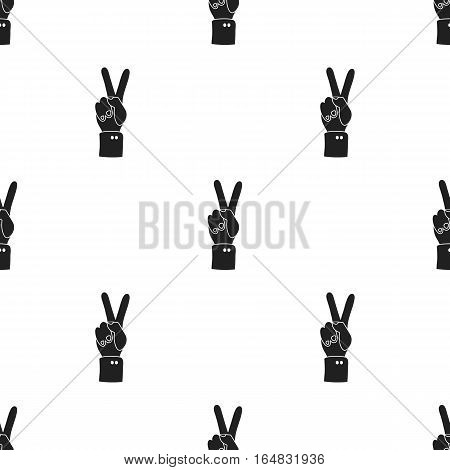 Peace icon in black style isolated on white background. Patriot day pattern vector illustration.