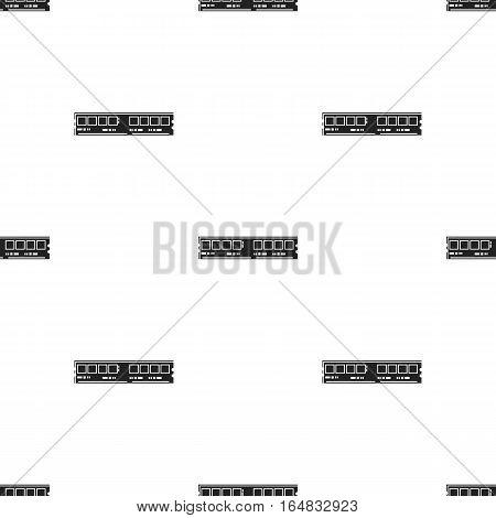 RAM icon in black style isolated on white background. Personal computer pattern vector illustration.