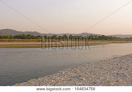Quiet River in Chitwan National Park in Nepal