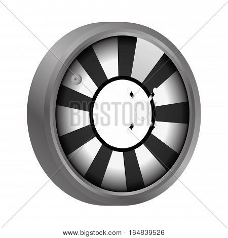 casino roulette wheel over white background. gambling games design. vector illustration