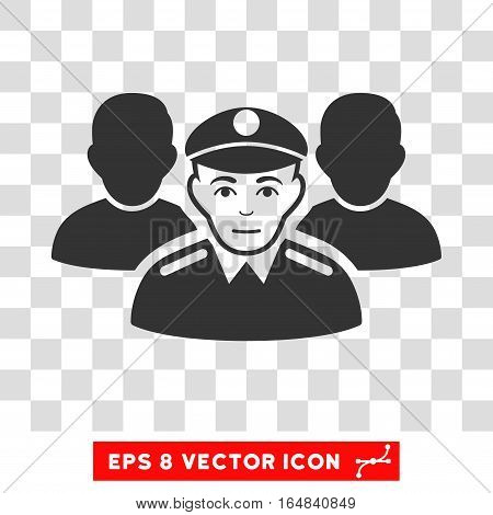 Army Team EPS vector pictogram. Illustration style is flat iconic gray symbol on chess transparent background.