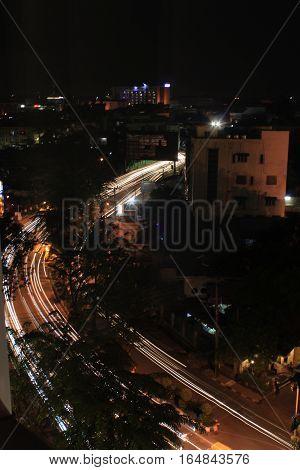 Rush hour time in Medan City, capital city of North Sumatra. The grownup city still on progress.