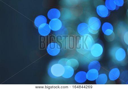 City Lights Blurred Bokeh Background.