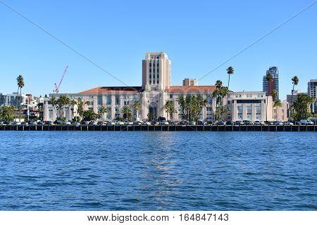 San Diego, California - Usa - December 04, 2016: View Of San Diego City Administration Building