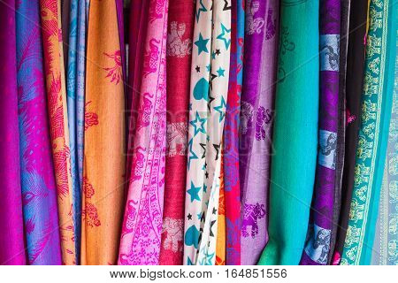 Background Colorful Blanket.