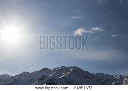 Sun In The Mountains Of Kazakhstan