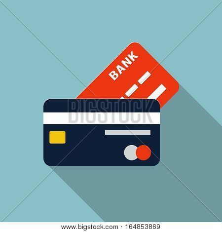 Credit Card Icon, design element for mobile and web applications, eps 10