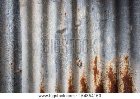 Zinc wall rusty Zinc grunge on background