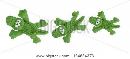 Soft Toy Crocodiles on a White Background