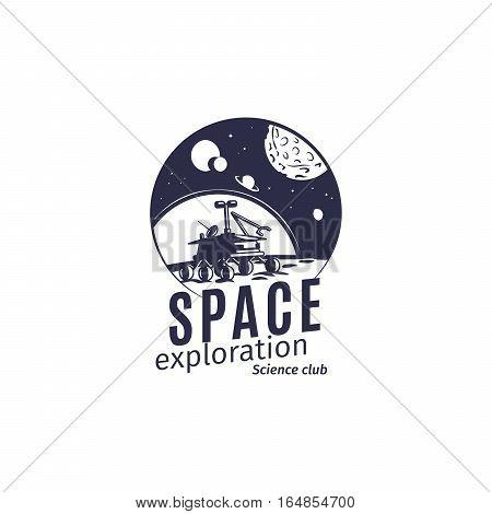 Science club logo in retro style vector illustration