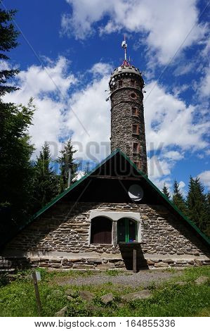 Watchtower Zlaty Chlum In Jeseniky Mountains