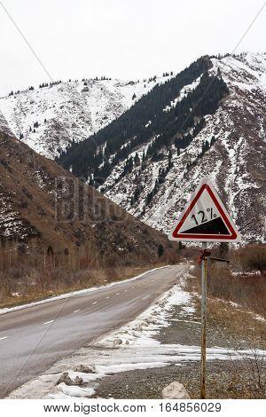 Sign Steep Climb