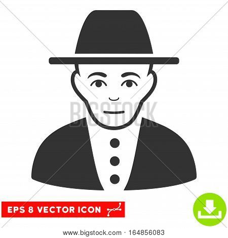 Vector Jew EPS vector pictogram. Illustration style is flat iconic gray symbol on a transparent background.