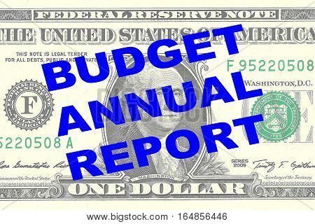Budget Annual Report Concept