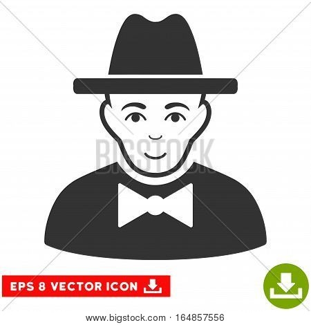 Vector Spy EPS vector pictogram. Illustration style is flat iconic gray symbol on a transparent background.