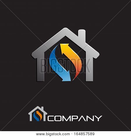 Vector sign air conditioning, isolated illustration on white