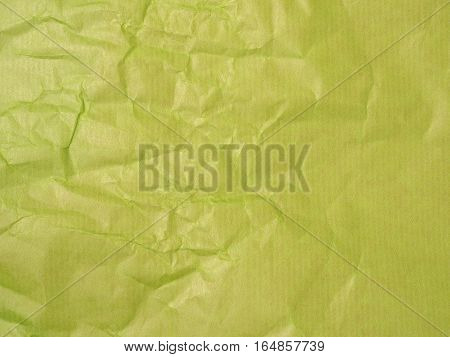 Green crumpled paper with space for text using as image