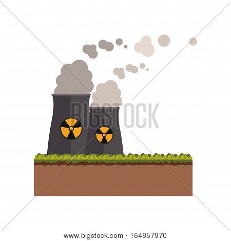 Biohazard chimney icon. Nuclear plant power energy and pollution theme. Isolated design. Vector illustration