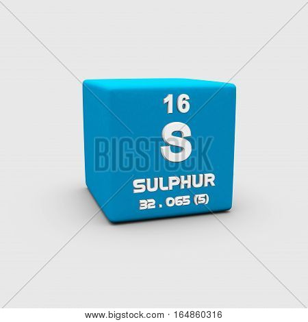 Sulphur is a chemical element with symbol S and atomic number 16.