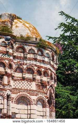Ruined Church of Christ Pantocrator is a medieval Eastern Orthodox church in the Bulgarian town of Nesebar on the Black Sea coast. Part of the Ancient Nesebar UNESCO World Heritage Site.