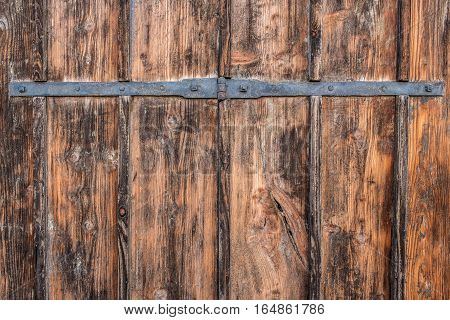 Old antique wooden door. Background and Texture for text or image.