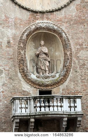 """The Palazzo della Ragione with the Torre dell'Orologio (""""Clock Tower""""). Mantua Italy poster"""