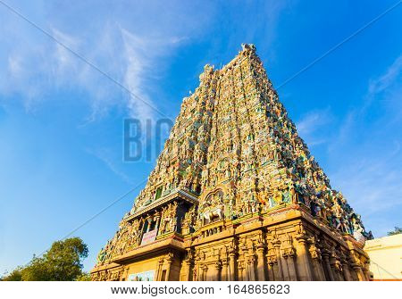 Madurai Meenakshi Amman Temple West Tower Gate H