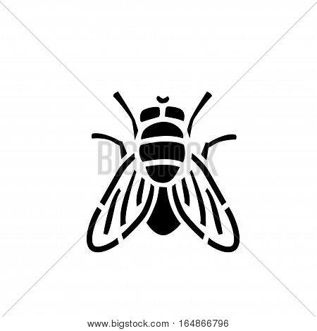 Fly stencil icon, isolated vector illustration logo