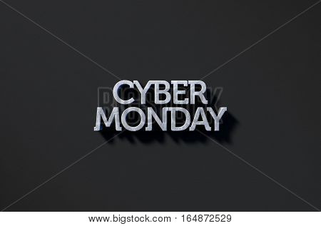 Cyber Monday Text On Black