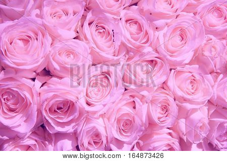 Pale pink roses in a wedding centerpiece