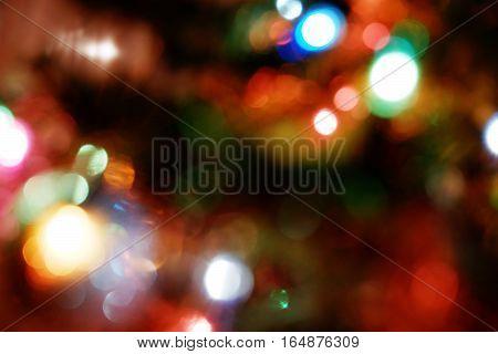blurred colourful festive flare bokeh beautiful background