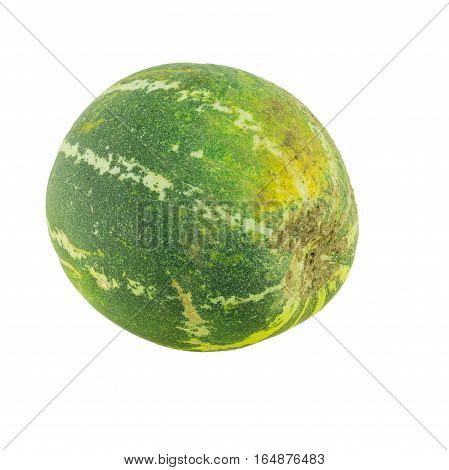 Ripe melon isolated on a white background.