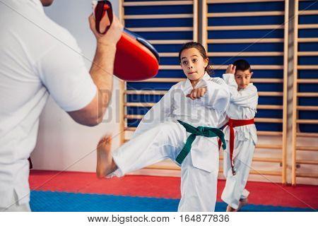 Tae kwon do instructor on training with kids