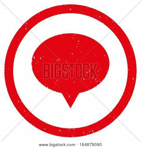 Banner Balloon rubber seal stamp watermark. Icon vector symbol with grunge design and corrosion texture. Scratched red ink sign on a white background.