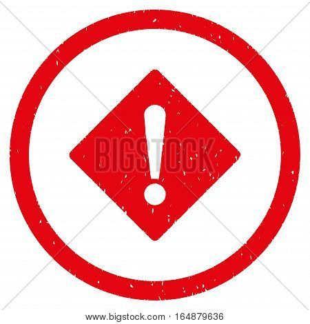 Error Rhombus rubber seal stamp watermark. Icon vector symbol with grunge design and unclean texture. Scratched red ink emblem on a white background.