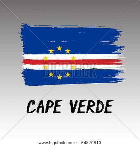 Flag Of Cape Verde - Color Grunge Icon