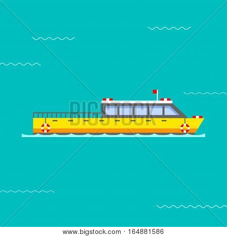 Ship boat sea silhouette vessel travel industry vector. Symbol of sailboat or cruise marine icon commercial design element. Export business trade water cargo transportation.