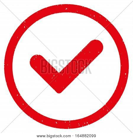 Yes rubber seal stamp watermark. Icon vector symbol with grunge design and dirty texture. Scratched red ink sticker on a white background.