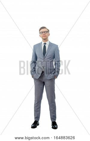 Young Man In A Tie With Glasses