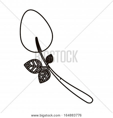 Spoon icon. Cutlery dishware tool and utensil theme. Isolated design. Vector illustration