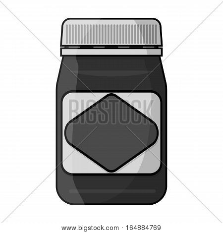 Australian food spread icon in monochrome design isolated on white background. Australia symbol stock vector illustration.