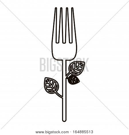 Fork icon. Cutlery dishware tool and utensil theme. Isolated design. Vector illustration