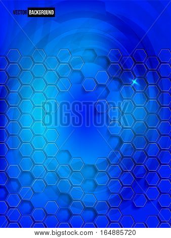 abstract background blue Hexagon. Web Design and illustration