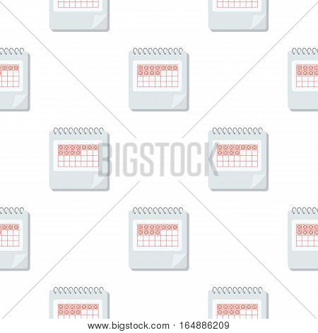 Calendar icon in cartoon style isolated on white background. Pregnancy pattern vector illustration.