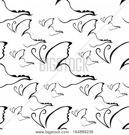 seamless pattern Butterfly logo of brand name icon. vector illustration